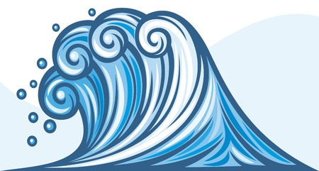 sea wave (ocean wave) Vector