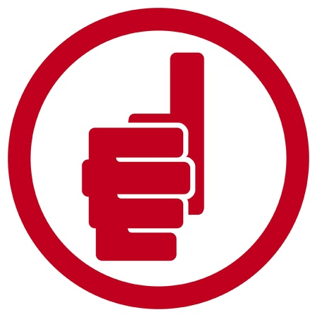 hand showing thumbs up symbol (human hand giving ok label, hand showing thumbs up sign) Vector