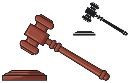 justice hammer: gavel - hammer of judge or auctioneer  judge gavel