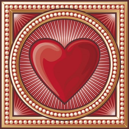 card suits symbol: heart symbol  heart decorative card symbol, card suits symbol  Illustration