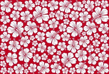 Seamless floral pattern whit hibiscus  hibiscus pattern, seamless hawaiian pattern wallpaper, seamless hibiscus flower background, hawaiian pattern  Vector