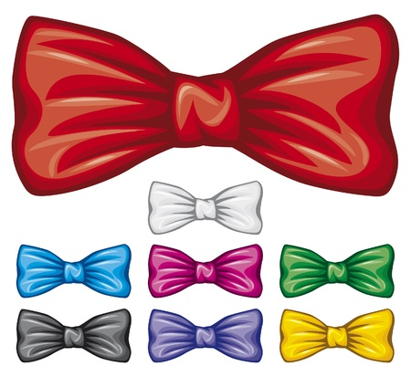 bow ties collection  bow tie set  Vector