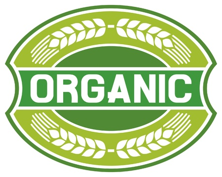 organic label  organic seal, organic symbol, organic badge, organic sign  Vector