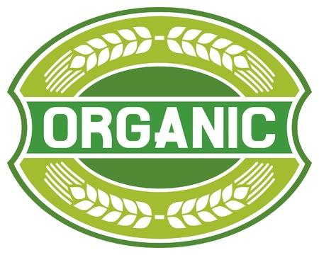 certified stamp: organic label  organic seal, organic symbol, organic badge, organic sign