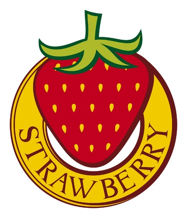 strawberry label design  strawberry symbol  Stock Vector - 15867585