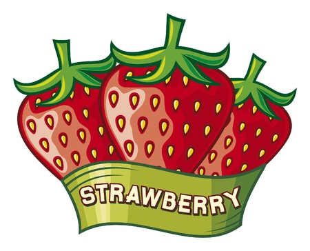 strawberry label design  strawberry symbol  Vector
