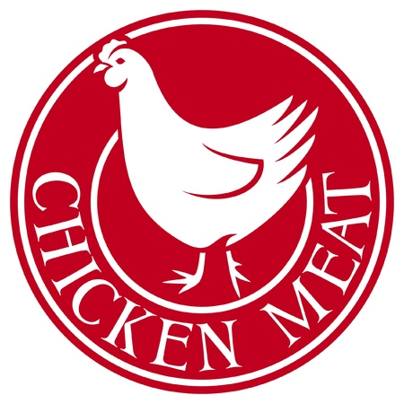 chicken meat label Vector