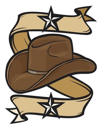 cappello cowboy: cappello da cowboy di progettazione Vettoriali