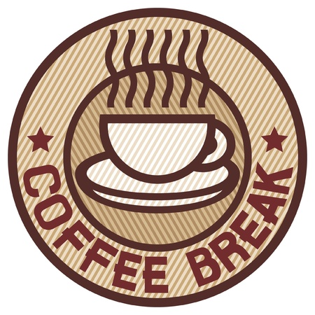 Coffee break sign (coffee break label) Vector