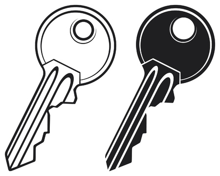 house keys: Key - illustration