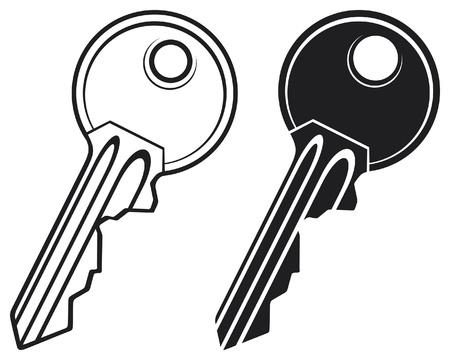keys isolated: Key - ilustraci�n