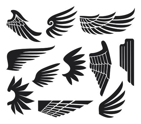 tatouage ange: collecte ailes (jeu de coulisses) Illustration