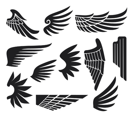 wings collection (set of wings) Stock Vector - 15932844