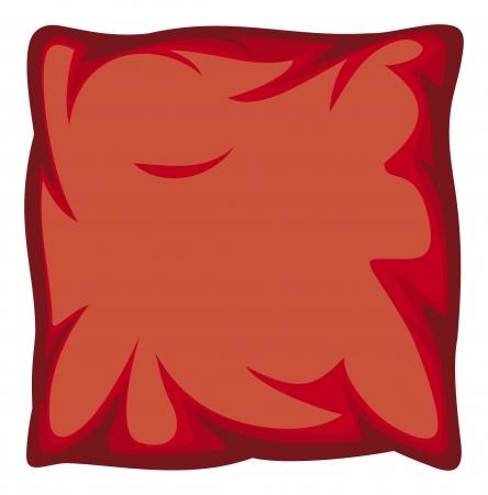 almohada roja Ilustración de vector