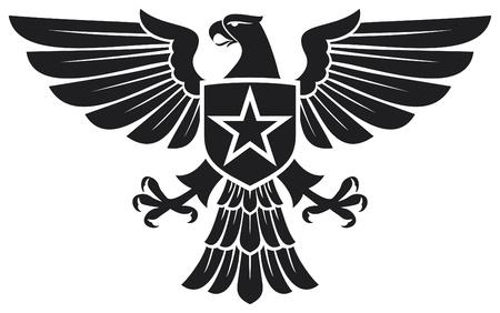 aguila americana: �guila y la estrella escudo de armas
