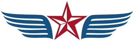 estrella caricatura: estrella y alas
