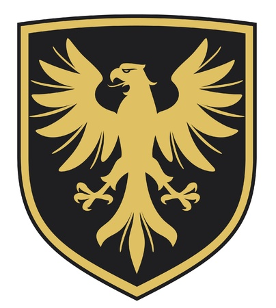 the air attack: eagle  coat of arms, emblem