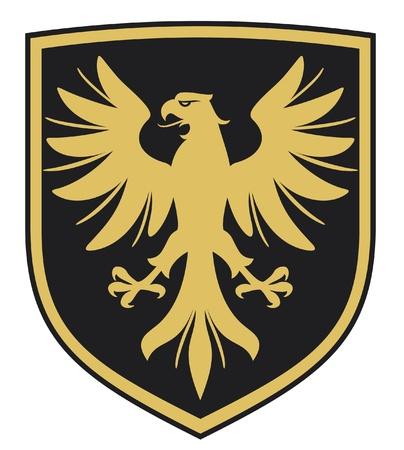 escudo de armas: águila escudo, emblema Vectores