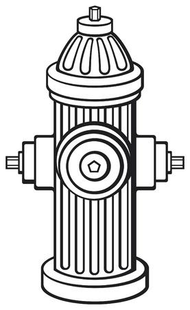 borne fontaine: Bouche d'incendie Illustration