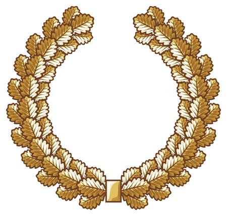 second prize: oak wreath vector