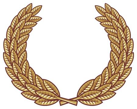 second prize: Laurel wreath vector Illustration