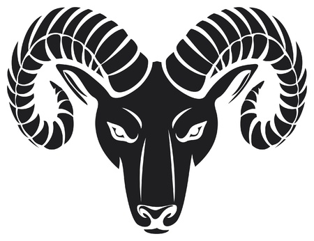 sheep sign: head of the ram (ram head)