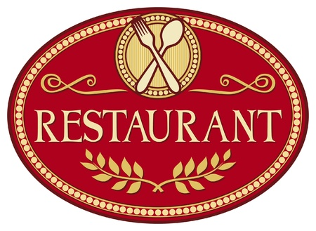 banquet table: restaurant symbol (restaurant sign design)