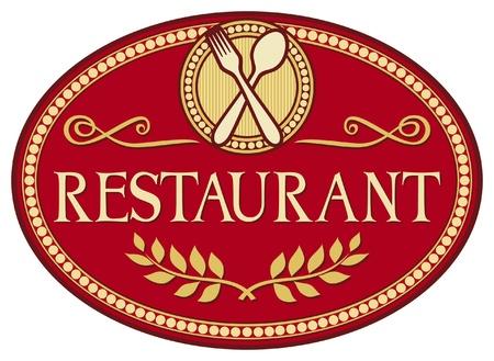 negocios comida: restaurante s�mbolo (dise�o del restaurante signo)