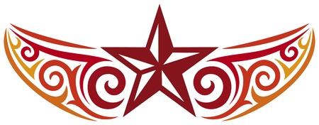 estrella caricatura: dise�o de tatuaje de la estrella