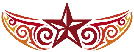 tattoo star design Vector