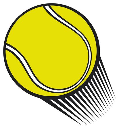 story time: tennis ball Illustration