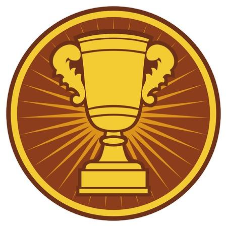 Trophy Cup Symbol (Trophy Cup Icon) Stock Vector - 15970748
