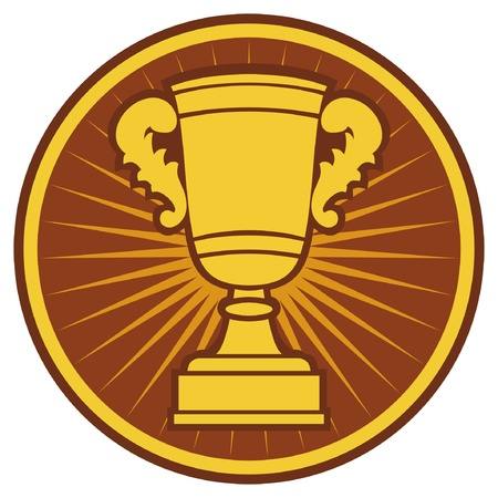 gold cup: Trophy Cup Symbol (Trophy Cup Icon)