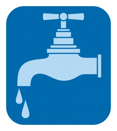 on tap: water tap (water faucet)