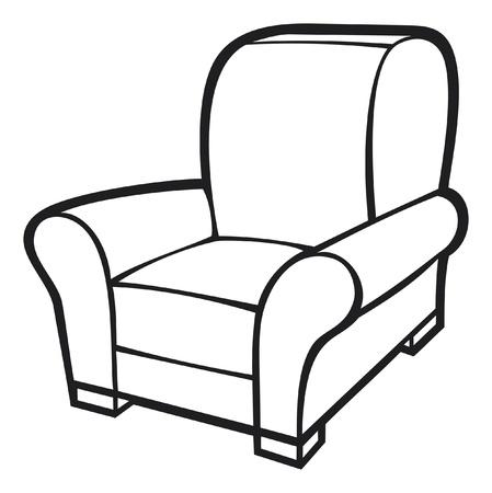 Sessel gezeichnet  Luxus Sessel Lizenzfreie Vektorgrafiken Kaufen: 123RF