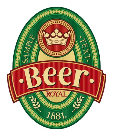 ječmen: pivo design etiket