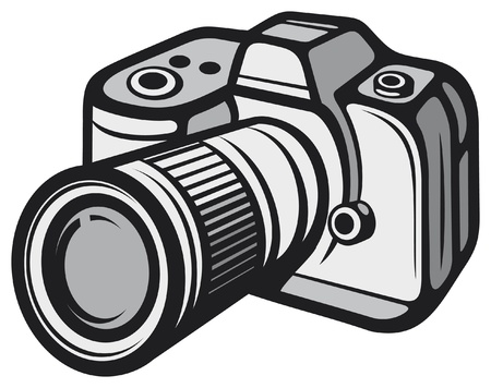 Compact digital camera (digital photo camera) Stock Vector - 16004923
