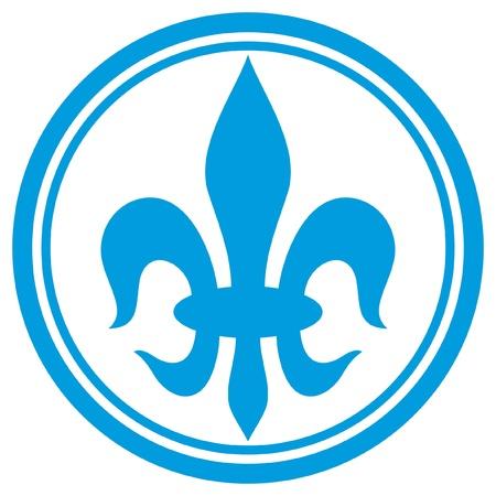 royal french lily symbols: lily flower - heraldic symbol fleur de lis (element) Illustration