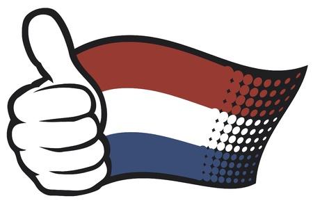 niederlande: Flagge holland (flag netherlands) Illustration