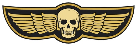 jolly roger: skull and wings
