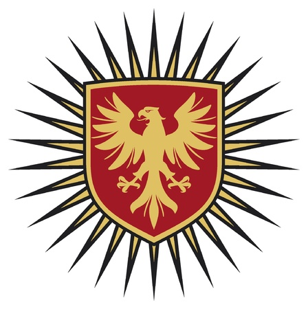 eagle coat of arms design  eagle and shield  Vector