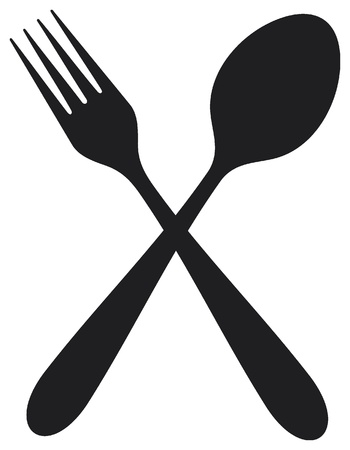 crossed fork and spoon Stock Vector - 16081546