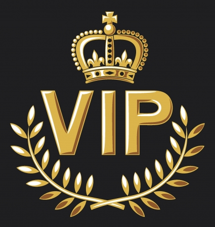 vip design  vip symbol, very important person sign  Vector