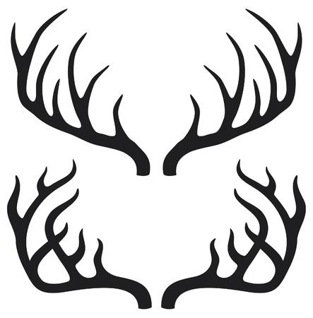 оленьи рога: оленьи рога Иллюстрация
