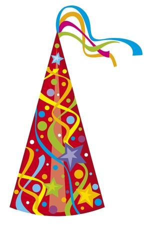 feestmuts verjaardagshoed Stock Illustratie