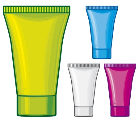 cosmetic tube (tube of cream, cosmetics containers) Stock Vector - 16675311