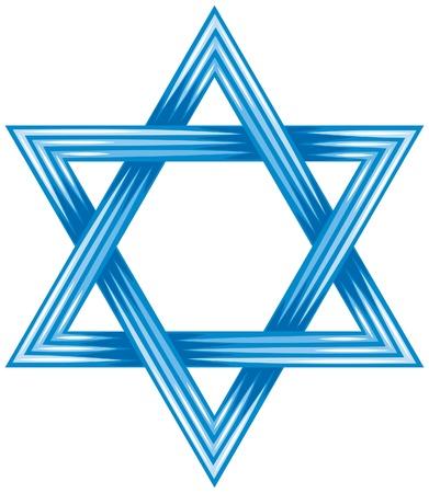 estrella de david: Estrella de David - símbolo de israel (ilustración del vector de la estrella de david, diseño vectorial abstracto) Vectores