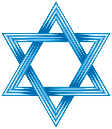 estrella de david: Estrella de David - s�mbolo de israel (ilustraci�n del vector de la estrella de david, dise�o vectorial abstracto) Vectores