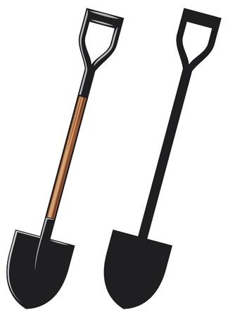 hand shovels: Illustration of a shovel