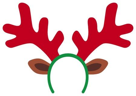 cintillos: renos máscara de Navidad divertida cuernos de reno Vectores